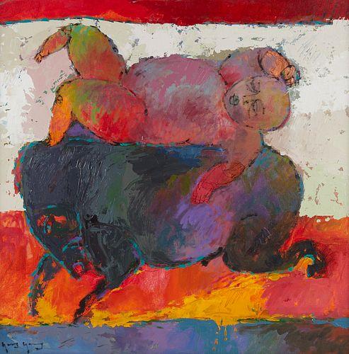 Yang Yang Man on Horse Acrylic on Canvas