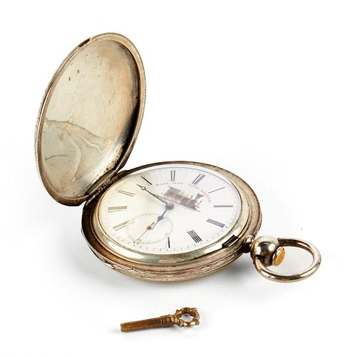 Large Railway Time Keeper Pocket Watch Locle Suisse