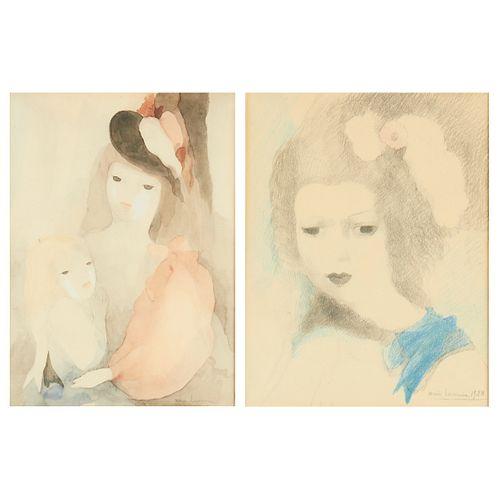 Pair of Marie Laurencin Portrait Lithographs