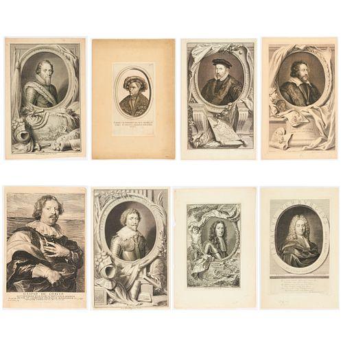 Grp: 8 18th Century Portrait Engravings