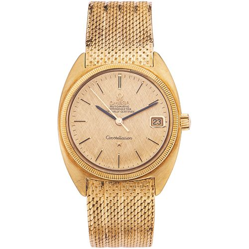 OMEGA CONSTELLATION WATCH IN 18K YELLOW GOLD REF. 168027 Movement: automatic. Weight: 106.4 g