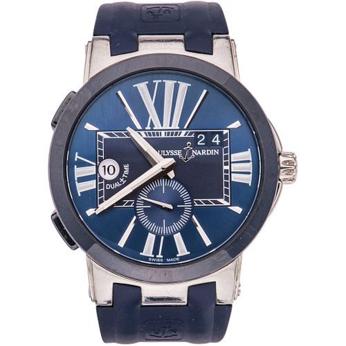 ULYSSE NARDIN EXECUTIVE DUAL+/-TIME GMT WATCH IN STEEL, CERAMIC AND TITANIUM REF. 243-00 Movement: automatic