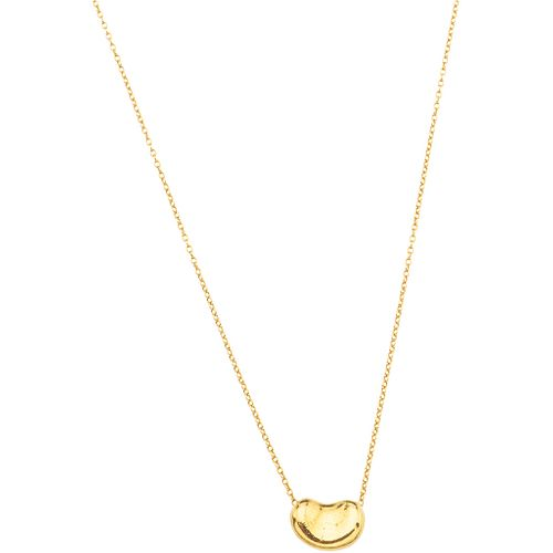 """CHOKER AND PENDANT IN 18K YELLOW GOLD Length: 18.8"""" (48.0 cm) Weight: 2.6 g"""