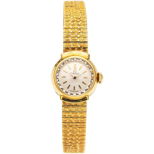 OMEGA LADY WATCH IN 18K YELLOW GOLD REF. 7049 Movement: manual (doesn't work, requires service). Weight: 36.9 g
