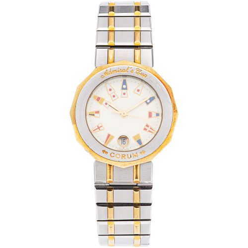 CORUM ADMIRAL'S CUP LADY WATCH IN STEEL AND 18K YELLOW GOLD REF. 39.610.21 V-52  Movement: quartz