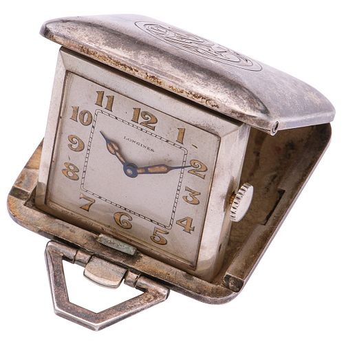 BUREAU CLOCK LONGINES IN SILVER Movement: manual. Weight: 46.0 g