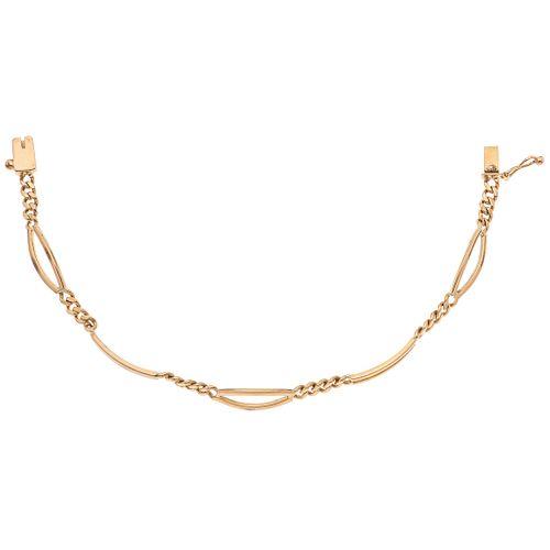 "BRACELET IN 14K YELLOW GOLD Weight: 12.5 g. Length: 7.6"" (19.5 cm)"