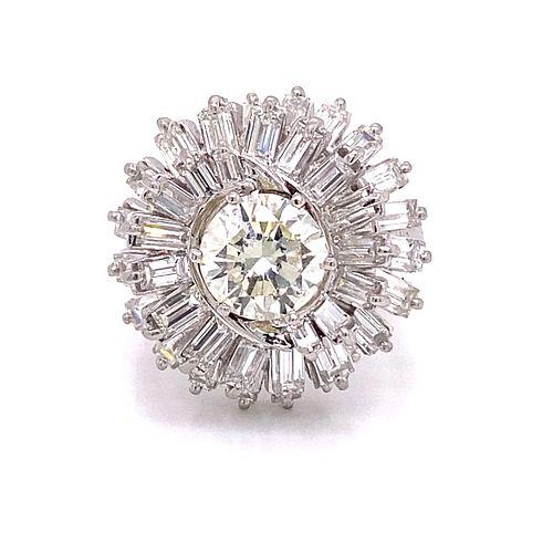 Platinum Retro Diamond Ring