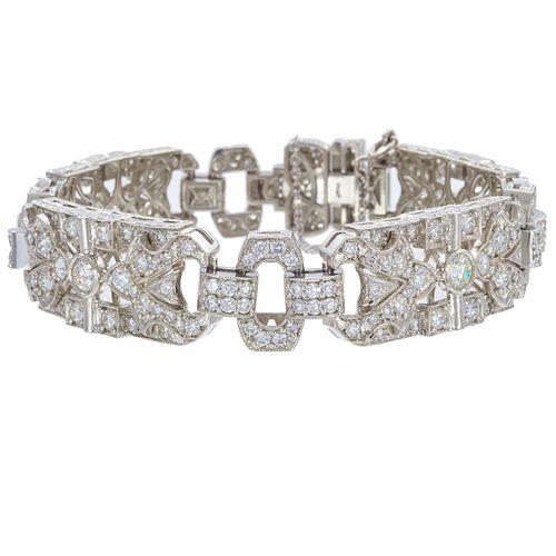 Diamond, Platinum Bracelet