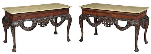 Fine Pair Irish George II Style Pier Tables