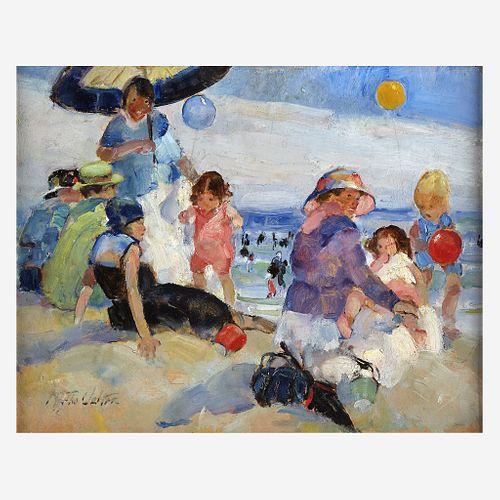 Martha Walter (American, 1875–1976) A Day at the Beach