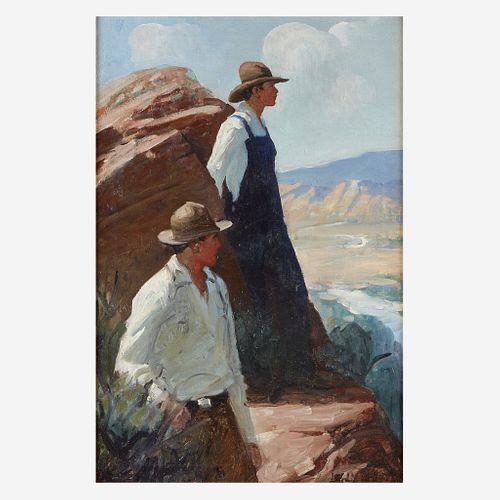 Frank Tenney Johnson (American, 1874–1939) Shadow of the Ledge