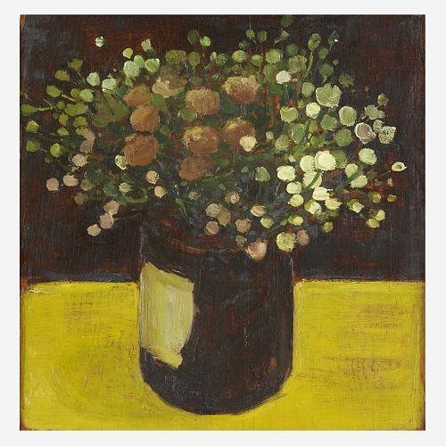 Albert York (American, 1928–2009) Jar of Wildflowers