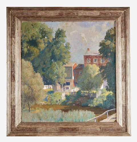 Daniel Garber (American, 1880–1958) Houses - Shannonville