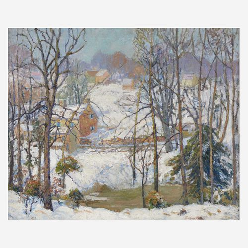 Fern Isabel Coppedge (American, 1883–1951) Village in Winter