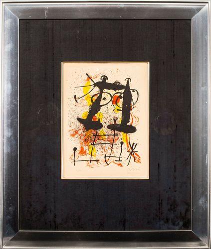 "Joan Miro ""Hai-Ku"" Lithograph in Colors, 1967"