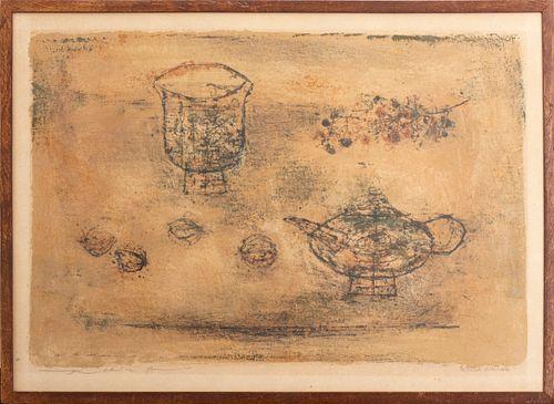 """Zao Wou-Ki """"La Theiere"""" Lithograph in Colors"""