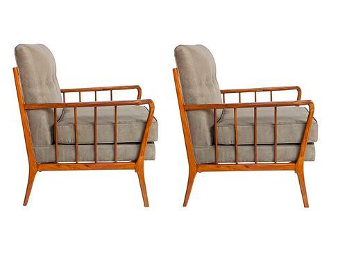 Rino Levi Brazilian Mid-Century Modern Arm Chairs