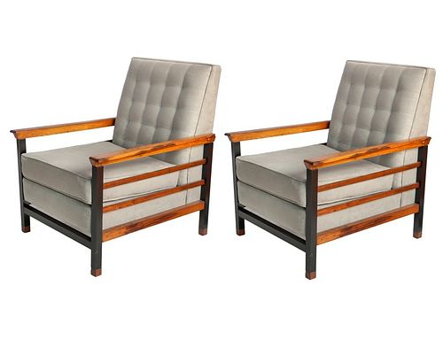 Brazilian Mid-Century Modern Jacaranda Arm Chairs