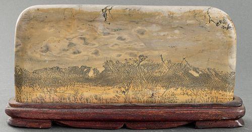 Chinese Dendritic Jasper Guo Hua Viewing Stone