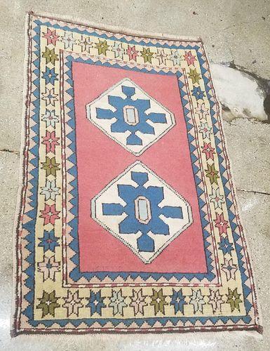 "Turkish Kazak Star Carpet 4' 10"" x 3' 3"""