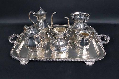 Gorham Silver Six Piece Tea and Coffee Service