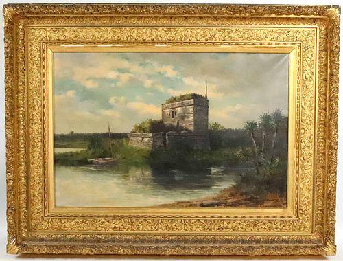 Frank Shapleigh, Oil on Canvas, Fort Matanzas