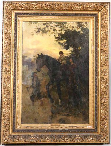 Hamilton Hamilton, Oil on Canvas, Child on Horse