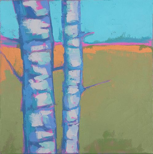 Carrie Megan, Birch Abstract #2