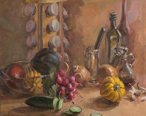 Irina Parfenova, Still Life with Vegetables