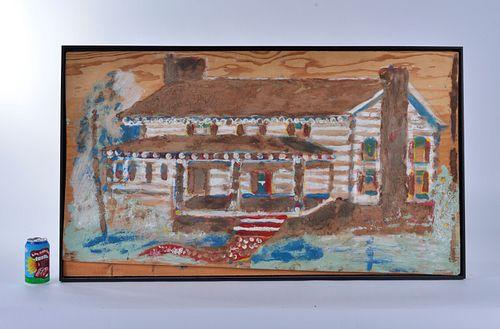 """Jimmy Lee Sudduth """"log cabin"""""""