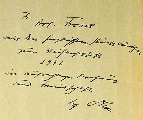 WWII Nietzsche Collected Works Part 1 Book with a personal note and signature from Adolf Hitler 'Fri