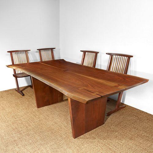 "George Nakashima Fine ""Minguren III"" Desk or Table, New Hope, Pennsylvania, 1987"