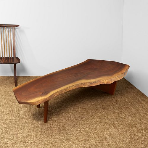 "George Nakashima ""R"" Bench / Coffee Table, New Hope, Pennsylvania, 1978"