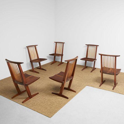 "George Nakashima Set of Six ""Conoid"" Chairs, New Hope, Pennsylvania, 1966"
