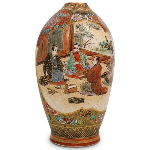 Antique Satsuma Porcelain Vase