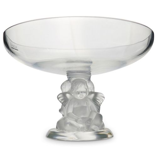 """Lalique """"Coupe Angelots"""" Footed Vase"""