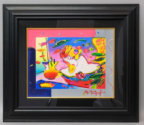 """Peter Max, """"Flower Blossom Lady"""""""