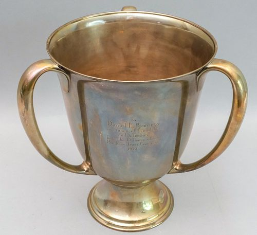 Large Tiffany Sterling Silver Three-Handled Trophy