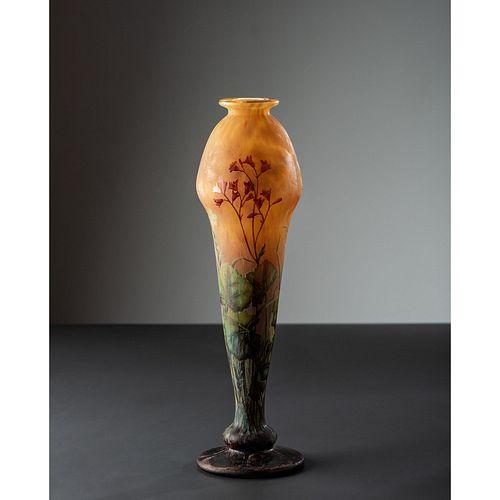 Daum, Footed Floral Vase