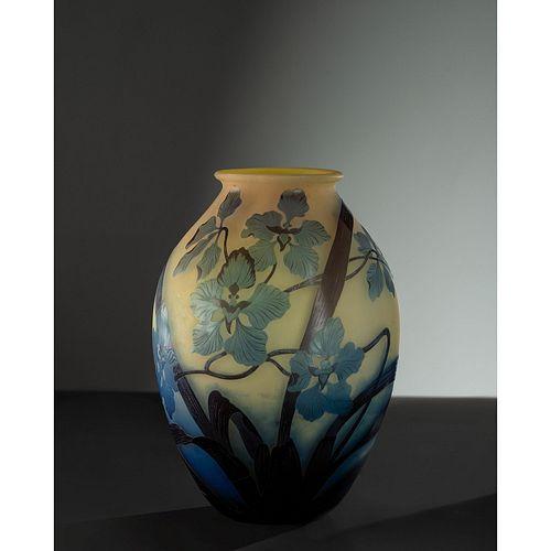 Émile Gallé, Monumental Orchids Vase