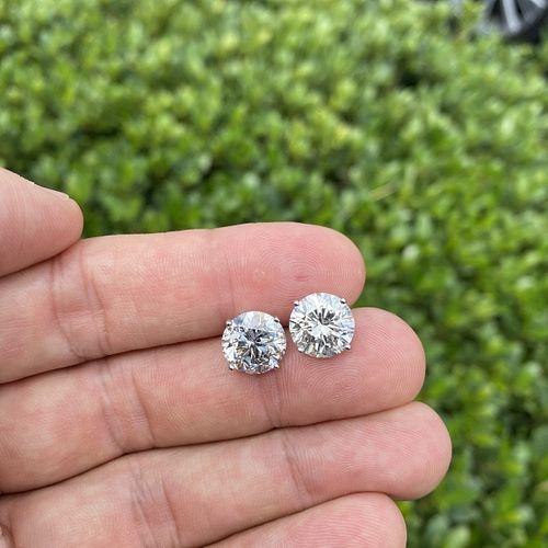 8.97ct Diamond Ear Studs