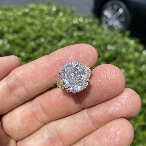EGL 12.83ct Diamond and 18K Ring