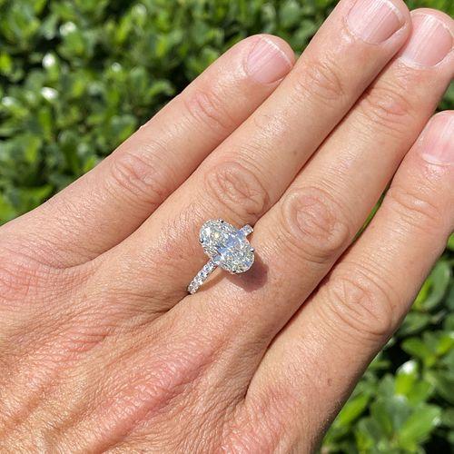 GIA 6.11ct Diamond and 18K Ring