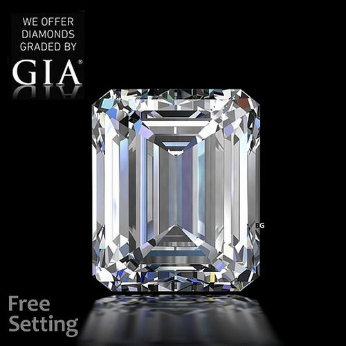 10.02 ct, E/VVS2, Emerald cut GIA Graded Diamond. Appraised Value: $2,570,100