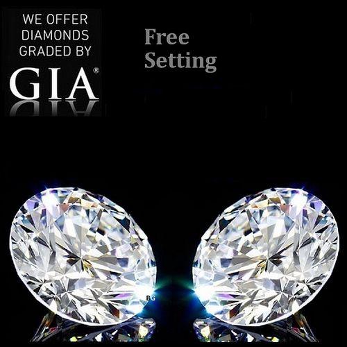 10.08 carat diamond pair Round cut Diamond GIA Graded 1) 5.02 ct, Color E, VVS2 2) 5.06 ct, Color E, VVS2. Appraised Value: $1,801,900
