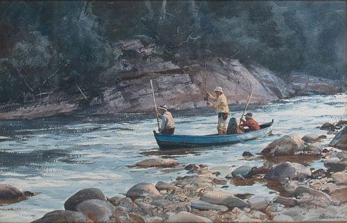 Ogden M. Pleissner (1905-1983), Waiting for the Rise