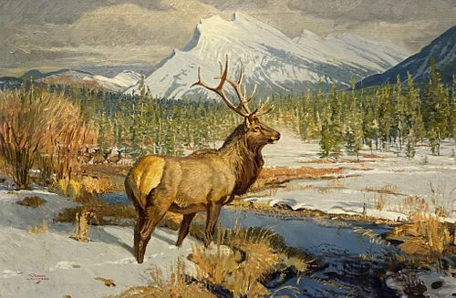 Robert Elmer Lougheed (1910-1982), Mount Rundle Beyond