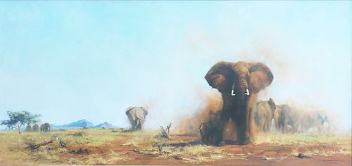 David Shepherd (British, 1931-2017), The Quiet Peace of an African Evening