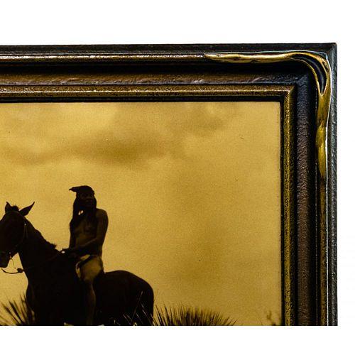 Edward Curtis (American, 1868-1952) 'The Scout Apache' Orotone Print